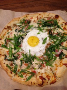 Kendall's All Day Breaky Pizza from Browns Social House